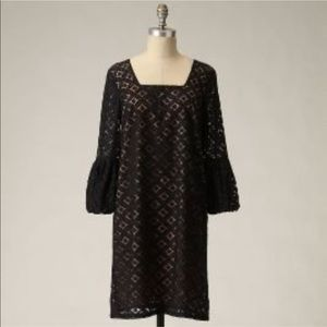 Anthropologie Anna Sui Black Lace Corby Dress 8